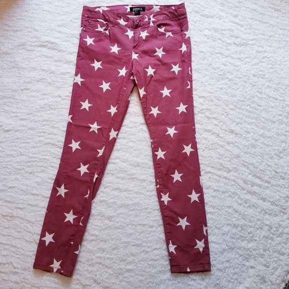 a10d7f4d979a0 Forever 21 Pants | Red Star Jeggings Size 28 Lots Of Stretch | Poshmark